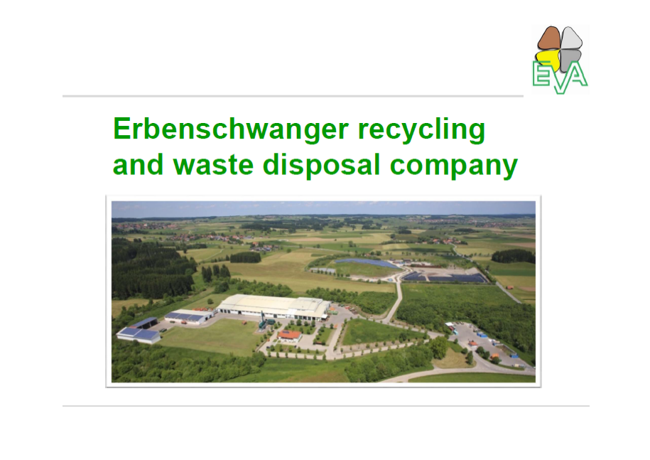 Eva - Erbenschwanger recycling and waste disposal company