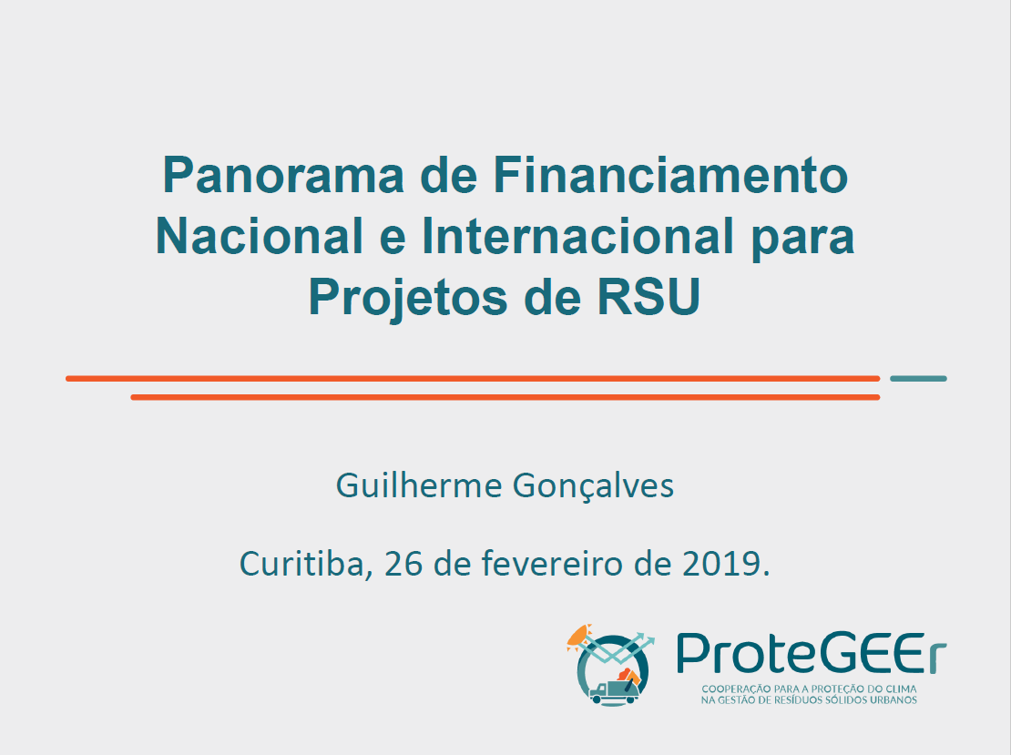 Panorama de Financiamento Nacional e Internacional
